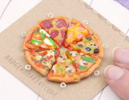 Pizza Friendship Charms by BadgersBakery