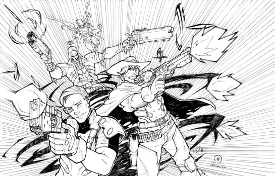 Overwatch commission inks by JoeyVazquez
