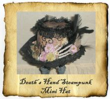 Death Hand Steampunk Mini Hat by grimdeva