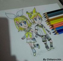 Chibi Rin and Len by Chiharu-chin