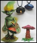 New Polymer Clay Creations by KabiDesigns