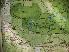 Ira Spring Trail map by KRHPhotography