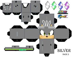 Silver The Hedgehog Cubee Part 2 by sonicthehedgehogarts