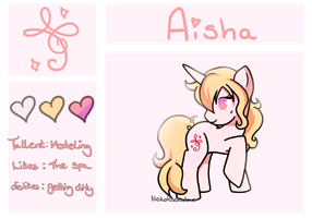 Aisha pony {Reference} by Rockabell-Neko