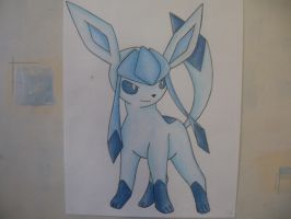 Glaceon V2- Pencil Colour by sazmullium