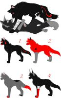 LeilahxHades Pups OPEN by Whispered-Time