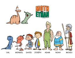 Moth, Ethan character designs by andrewchandler80