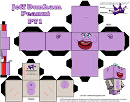 Cubeecraft of Jeff Dunham's Peanut Part 1 by SKGaleana