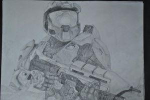 Masterchief Drawing by Swaal