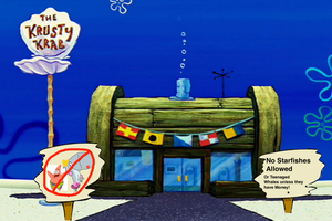No Starfishes or Whales Allowed in the Krusty Krab by darthraner83