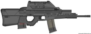 My HK Herstal OICW II (Light Assault,Close Combat) by Scarlighter