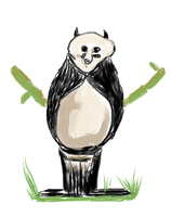 panda Bear (ms paint) by petermarge