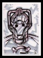 Cyberman ACEO by McMillen