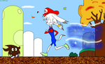 Mario Neige confronts Goombynus by Lynus-the-Porcupine