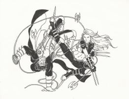 Inked! Damien vs X-23 by Num1XMN