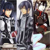 DGM - Kanda Yu uniforms by Lavi-BookmanJunior