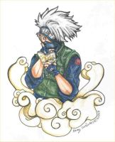 Kakashi Hmmmm-colored by bastett