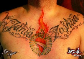 Red hot chili lettering by BPS-TATTOO