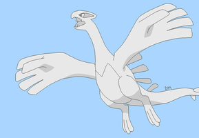 Base 15 Lugia by CrimsonVampiress