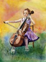 Little Cellist by AnnaShell