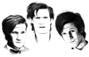 matt smith face doodles by sophalis