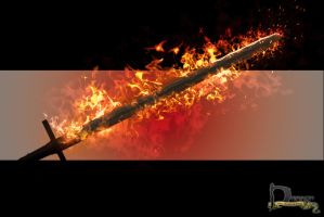 Burning Sword by Siphen0