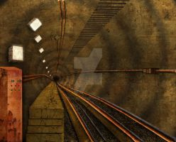 Subway Tunnel Concept Art by TwinkleCarnage