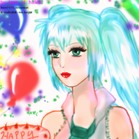 Miku Hatsune In Birthday Party by leen9999