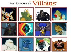 my most favorite villains by trexking45