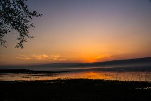 Last light on the lake 2 by ShlomitMessica