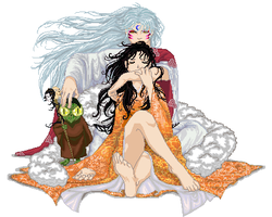 Sesshomaru and Rin by Cherieosaurus