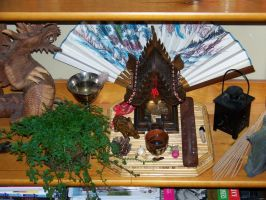 A spirit house in my house by Jace-Lethecus