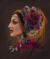 Tribal-face by anez-erynlis