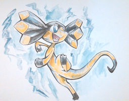 watercolor helioptile by Karry-Bird