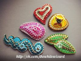 handmade hair clips by othewhitewizard