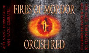 Fires of Mordor Orcish Red beer label by GavynZelerond