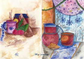 Postcard - both sides ( Christmas day) by ma-ry2004