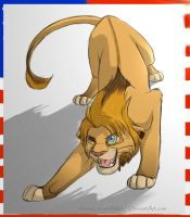 America-lion by AnimeLionessMika