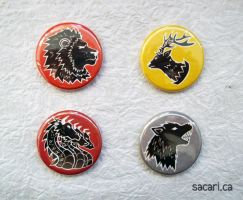 Game of Thrones Button Set by Sacari