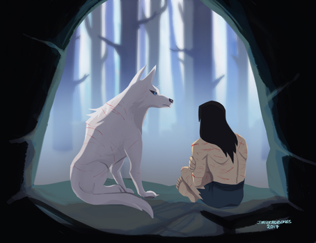 Jack And The Wolf by Jimsdeadbones