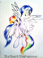 Rainbow Dash and Soarin' (SoarinDash) MLP by SkySparkThePegasus
