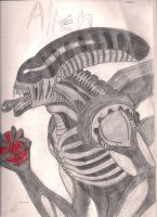 Alien drawing by Andy1134