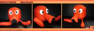 Qbert Plushie by Olive-Owl