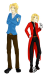 FMA:L Edward Elric - Then and Now by WarriorRedwaller