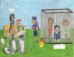 Total Drama Jailtime Crossover by daisyplayer1
