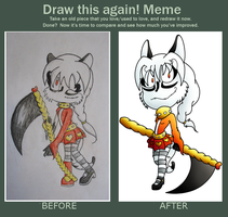 Before and After meme: Jenna by gaper4