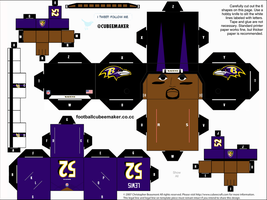 Ray Lewis Ravens Cubee by etchings13