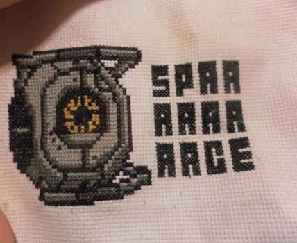 Space Core Cross Stitch by ladystrider
