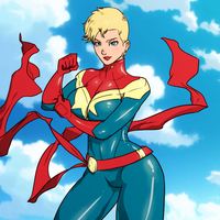 I Love Me Sum Capt Marvel! by SoDrawnOut