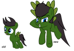 Allan with old and new designs by Casey-the-unicorn